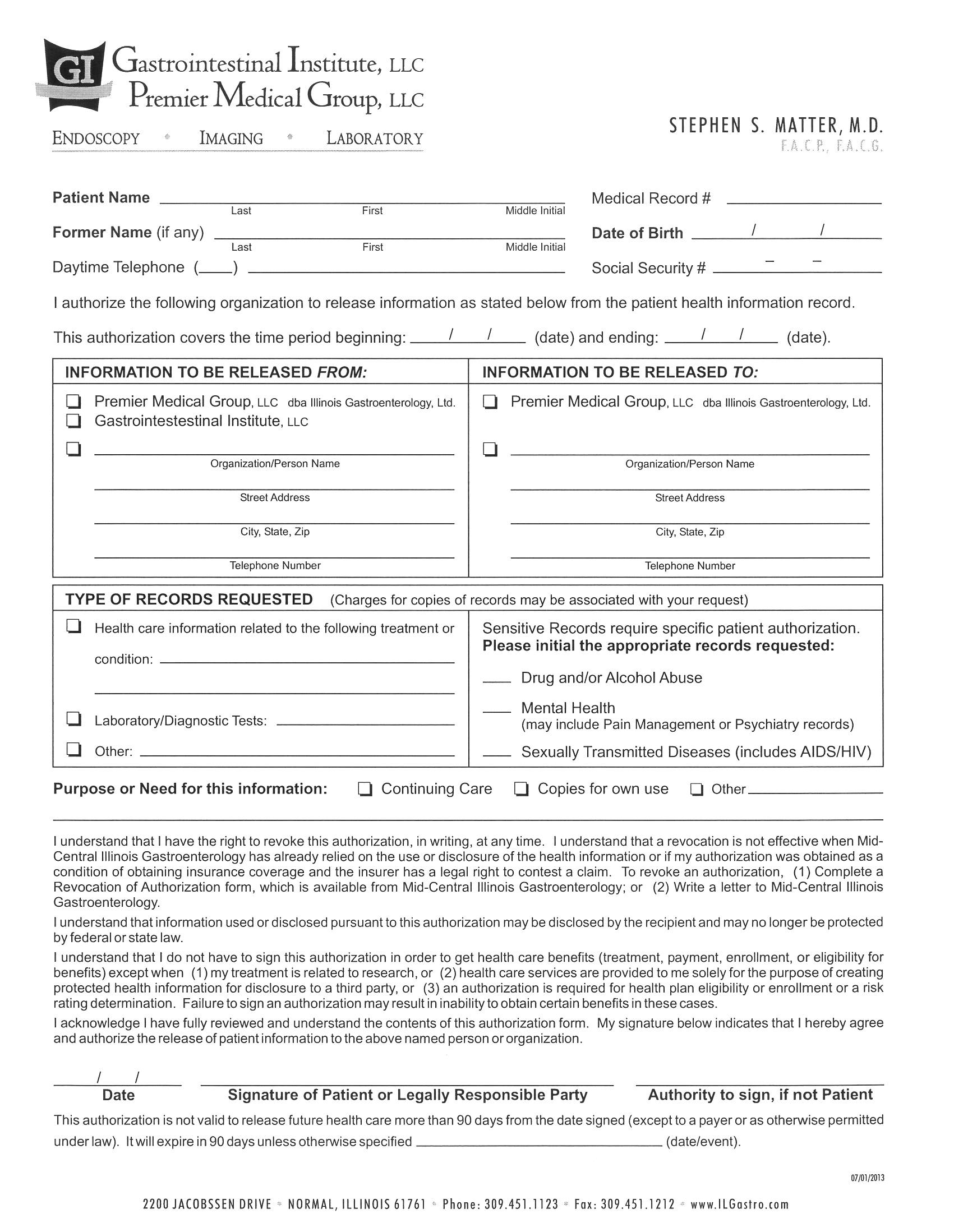 new patient forms gastrointestinal institute llc